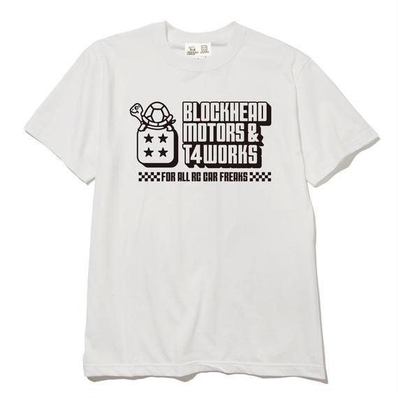 T4 x BLOCKHEAD MOTORSコラボTシャツ/ヴィンテージホワイト
