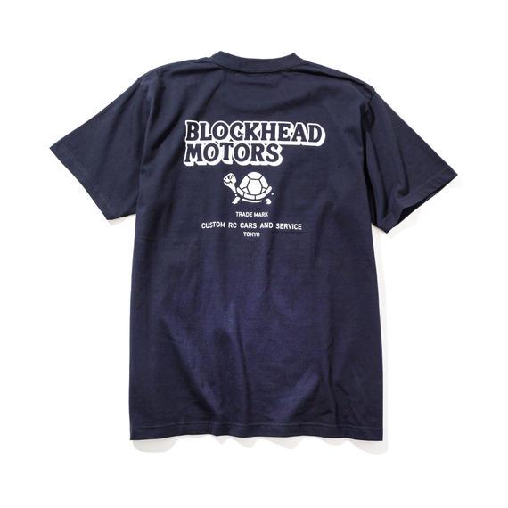 BLOCKHEAD MOTORS スタンダードTシャツ(ネイビー)/ STANDARD TSHIRT NAVY