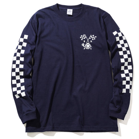 BLOCKHEAD MOTORS ロングスリーブTシャツ(ネイビー)/ LONG SLEEVE TSHIRT NAVY