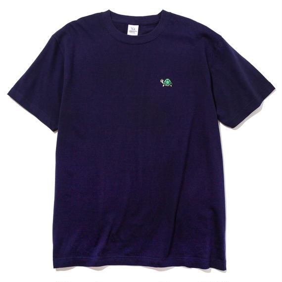 刺繍ワンポイントTシャツ(ネイビー)