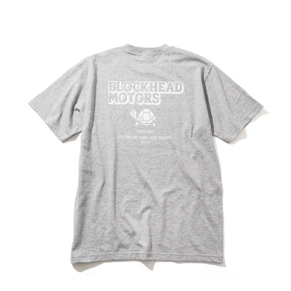 BLOCKHEAD MOTORS スタンダードTシャツ(グレー)/ STANDARD TSHIRT GRAY