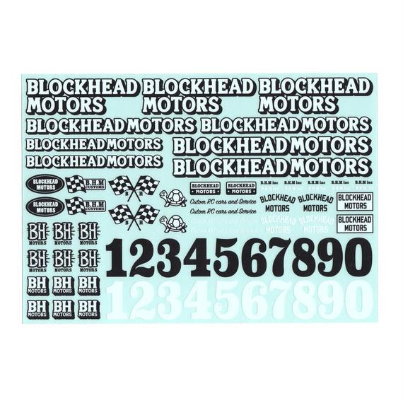 BLOCKHEAD MOTORS オリジナルデカールシート Ver.1 / Original decal sheet Ver.1
