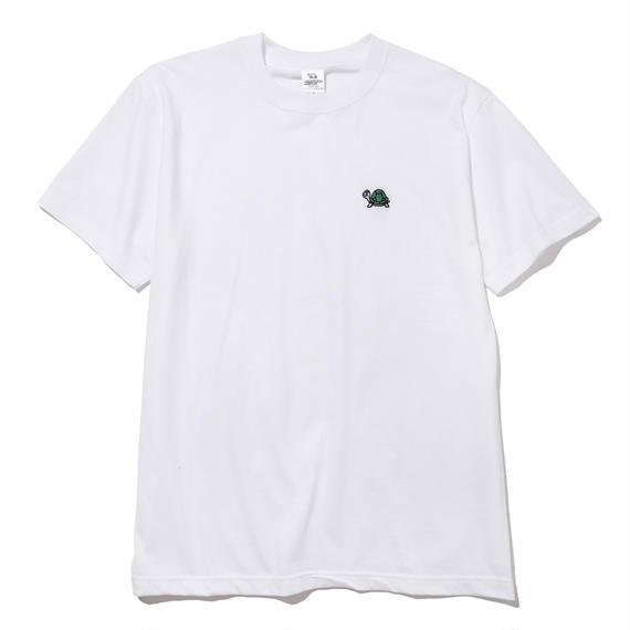 刺繍ワンポイントTシャツ(ホワイト)