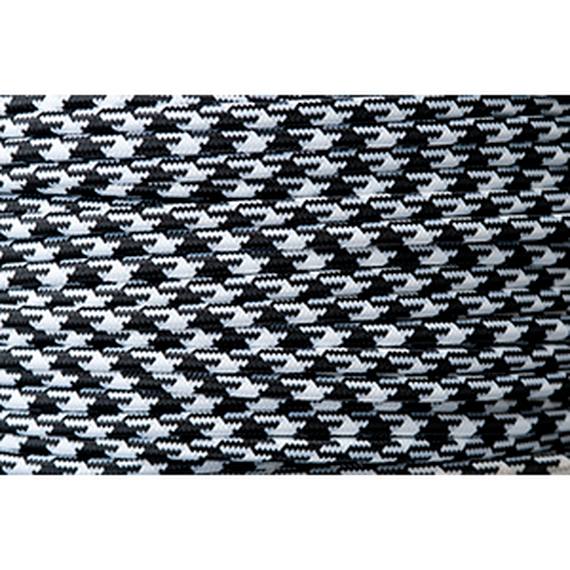 LINEME | CABLE | Black × White (Houndstooth)〔Color94〕@2m