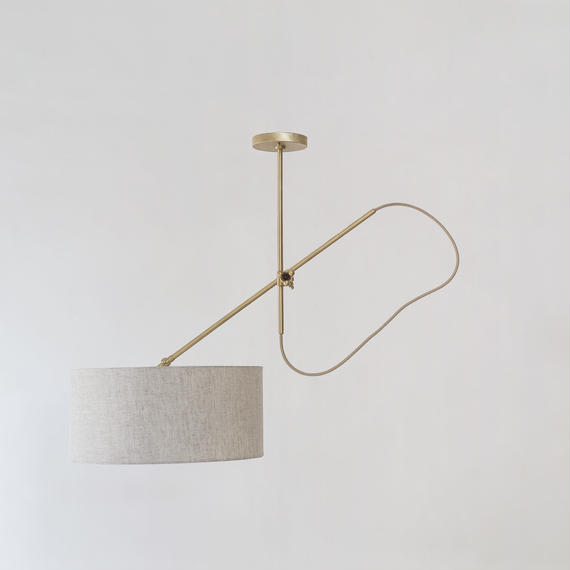 WORKSTEAD | SHADED BRASS PENDANT
