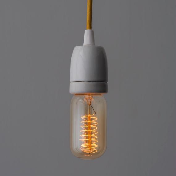 EDISON LAMP 10個セット*送料込 | T45 SPIRAL FAINT YELLOW