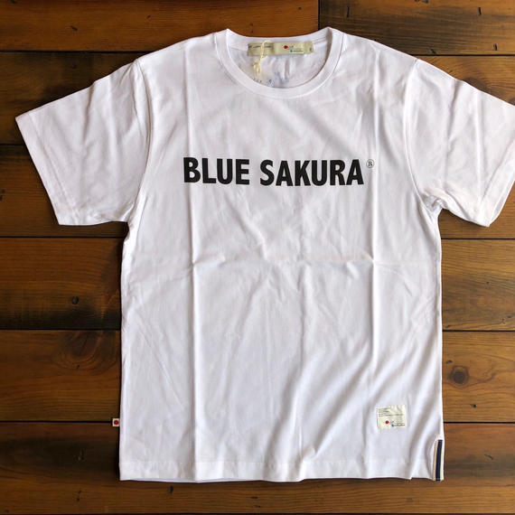 BLUE SAKURA PRINT T-SHIRT 【W-BK】/ BS-CS1-03