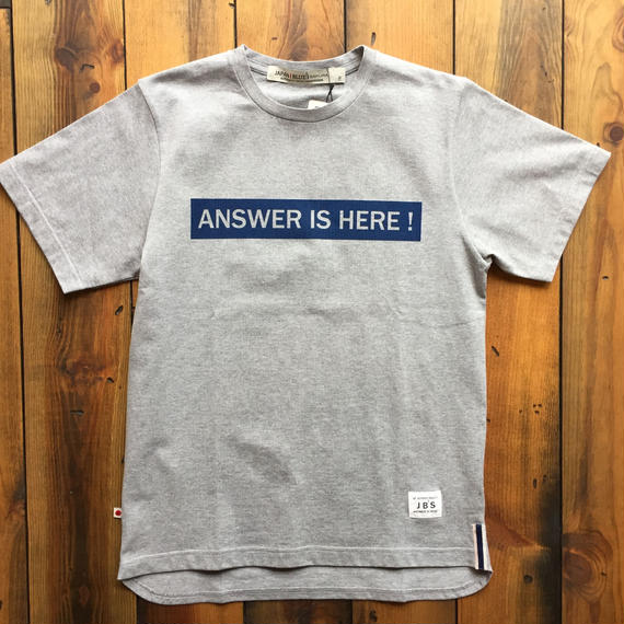 JAPAN BLUE SAKURA COLLABORATION T-SHIRT 【GRAY】