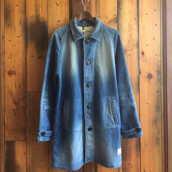 KNIT DENIM SHOP COAT / BS17AW-JK04