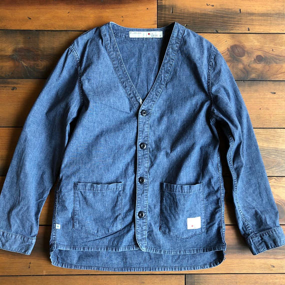 CHAMBRAY CARDIGAN pocket -  BS-S2-SW01ポケ付き
