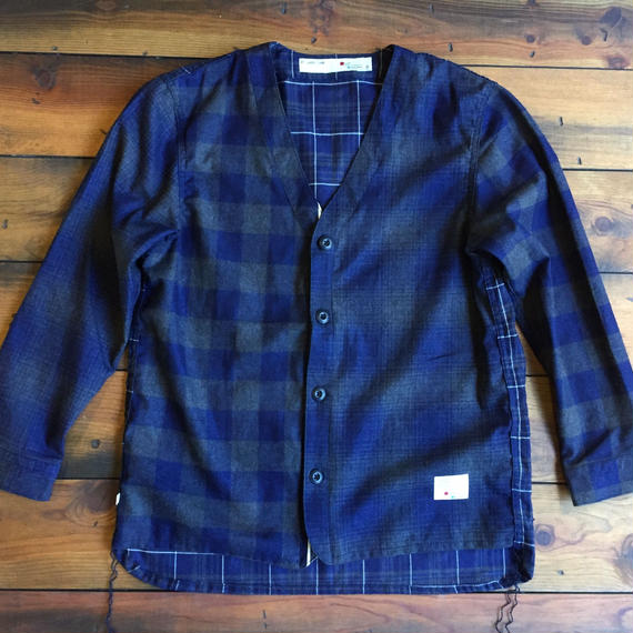INDIGO CHECK CARDIGAN CRAZZY【NAVY】/ BS-S2-SW03