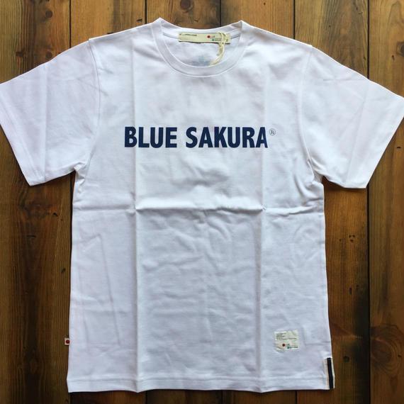 BLUE SAKURA PRINT T-SHIRT 【WHITE】/ BS-CS1-03
