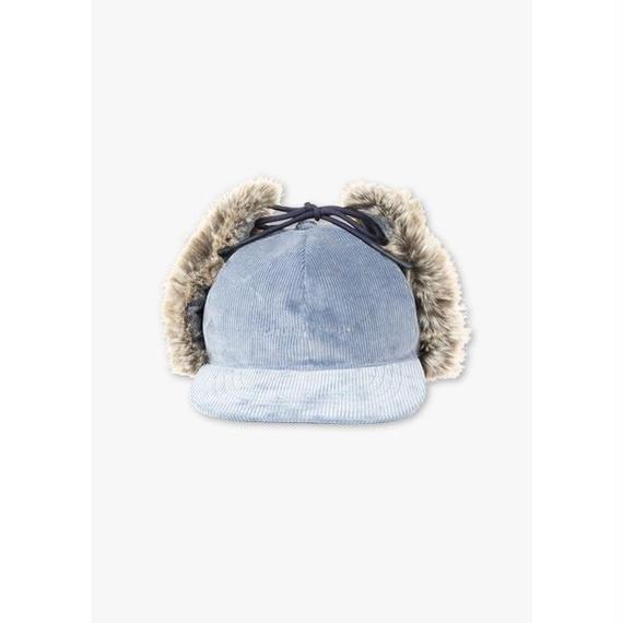 CORDUROY HUNTING CAP / BLUE