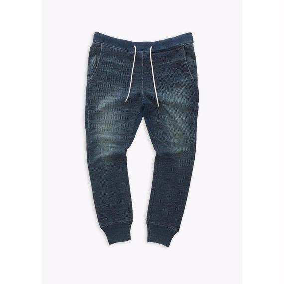 INDIGO LOOPBACK PANTS / BLUE