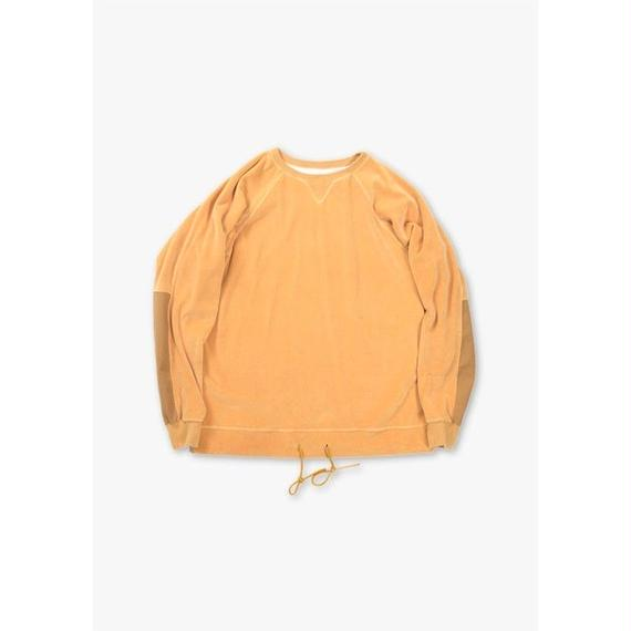 LOOSE FIT VELOUR CREWNECK / YELLOW