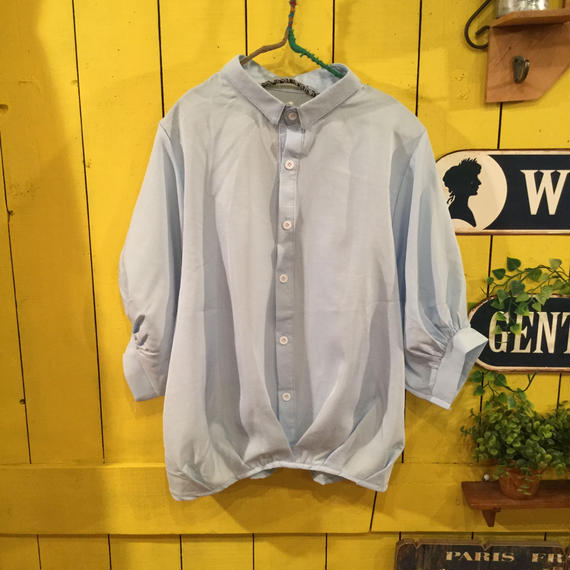 [0359tp]バルーン袖ドレープ入りシャツ