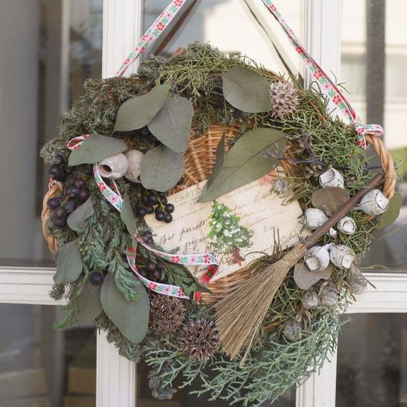 """お花の毎月便""""番外編"""" 《Christmas wreathe and small table ornament》"""