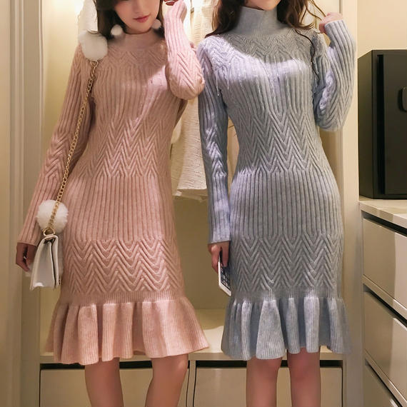 snow long knit OP(No.300524)
