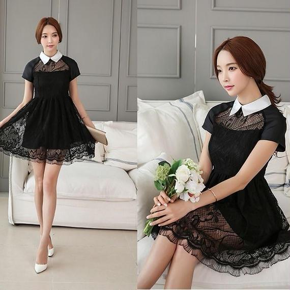 Collar Little Black Dress (No.300215)