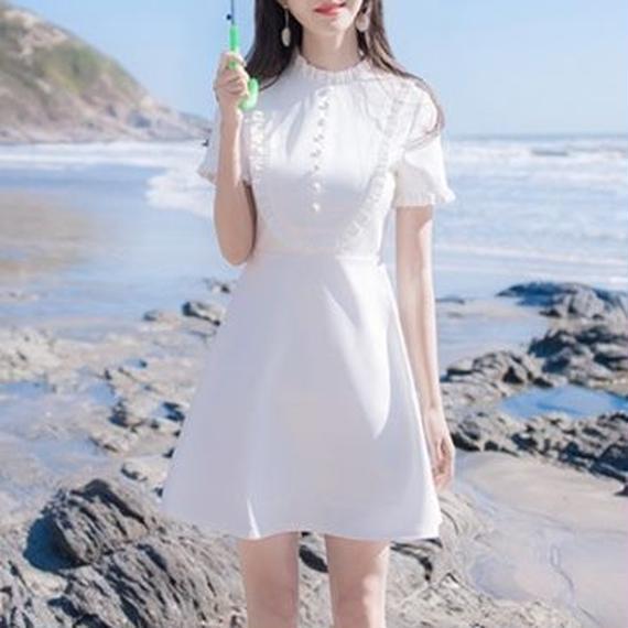 petite frill white dress(No.300400)