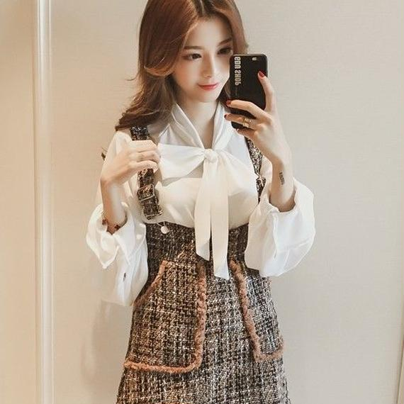 Royal blouse & tweed set-up (No.300326)