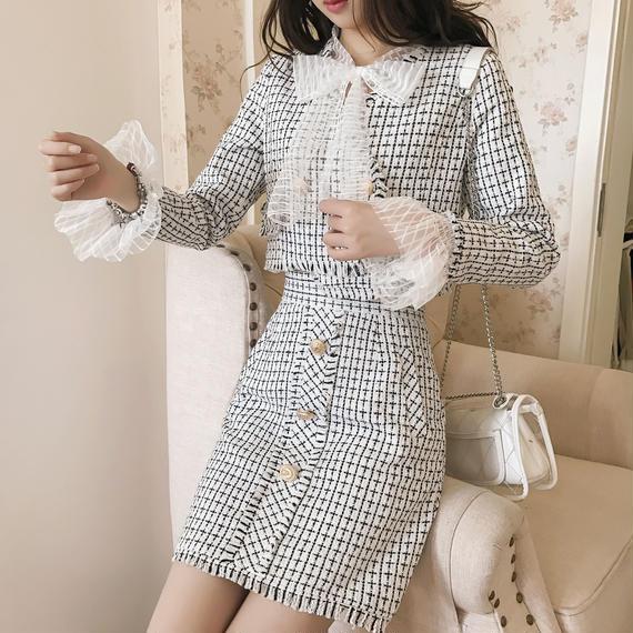blouse & tweed classic set-up(No.300498)