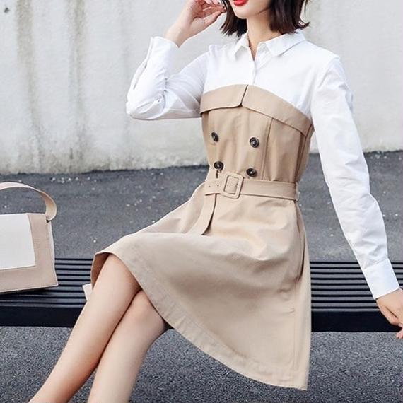 一部即納♡Sweet Trench Dress (No.300286)