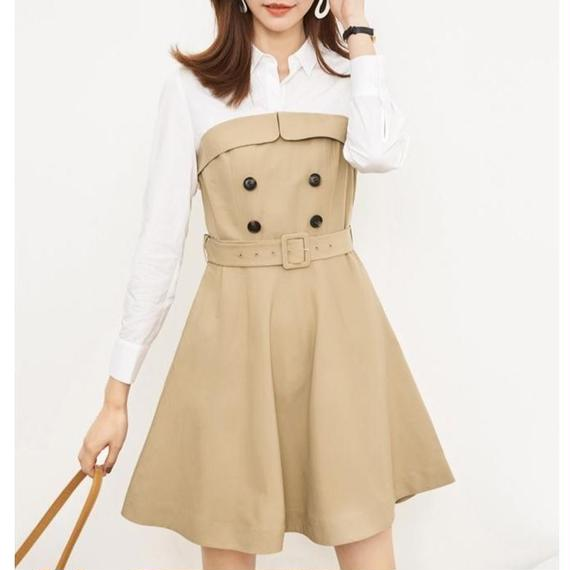 ♡一部即納♡Sweet Trench Dress (No.300286)
