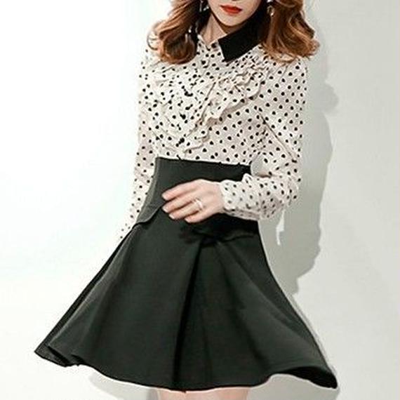Dot blouse docking OP (No.300342)