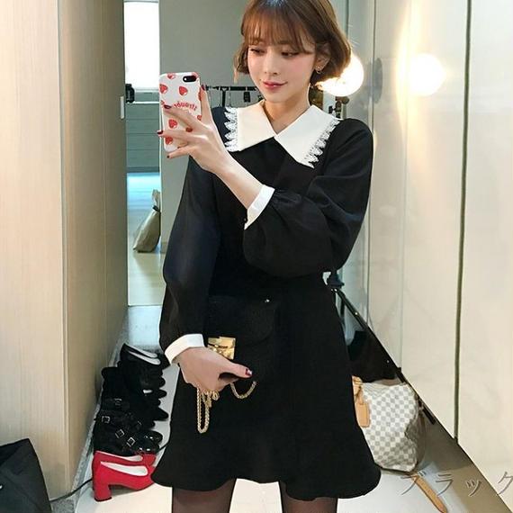 ♡即納♡Retro collar blouse (No.300303)