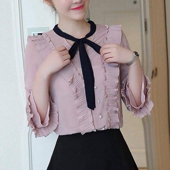 Classical Ribbon Blouse (No.300225)