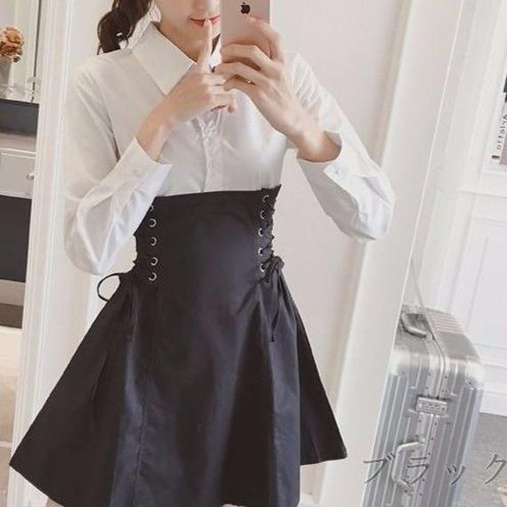 Lace-up Docking Dress (No.300219)