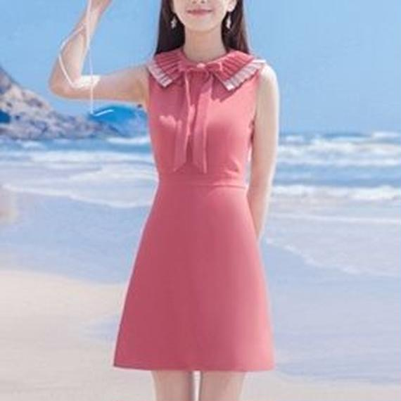 accordion collar pink OP(No.300421)