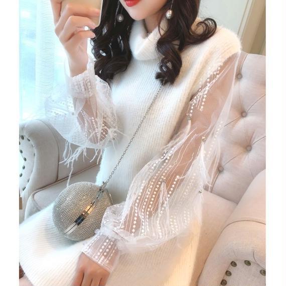 snow knit turtleneck OP(No.300539)