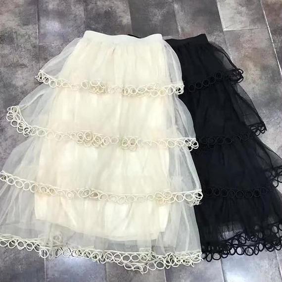 Long Frill Mille-feuille Skirt (No.300228)