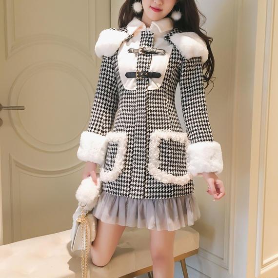 chidori tweed duffle coat(No.300534)