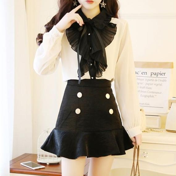monotone frill blouse(No.300568)