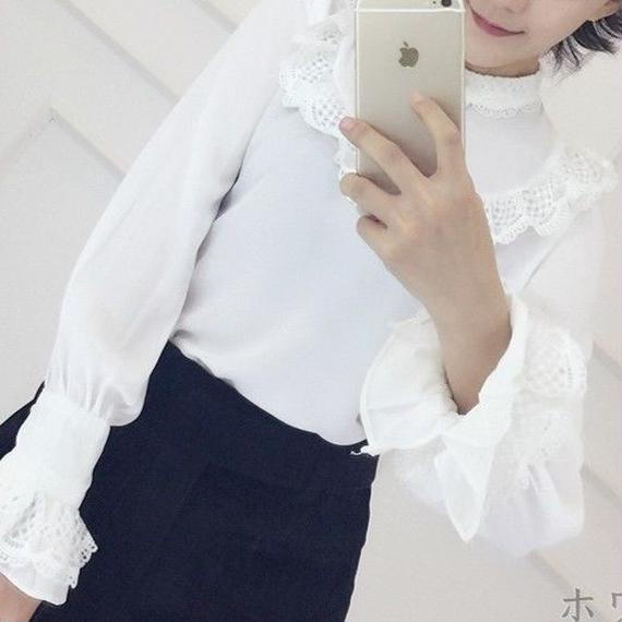 Frill made blouse (No.300277)