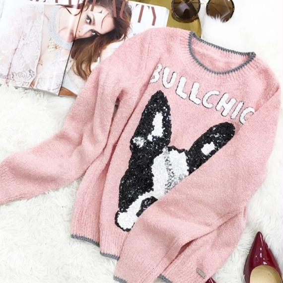 Classic BULLCHIC pink knit (No.300310)