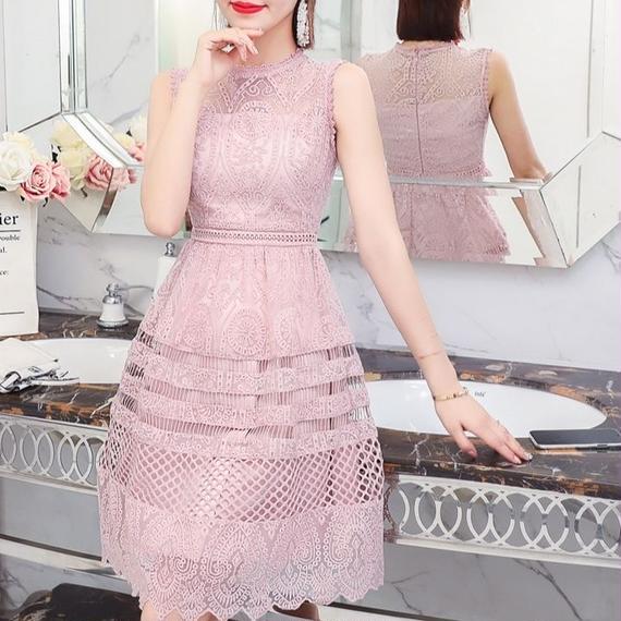 elegant pink lace OP(No.300448)