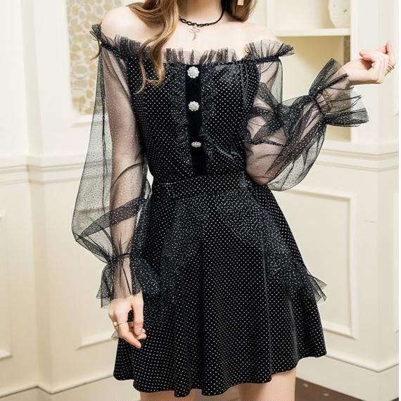 tulle frill tops & skirt set(No.300601)