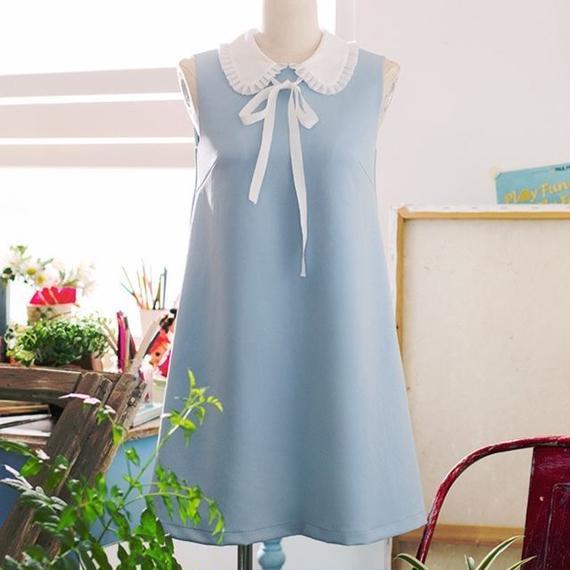 engel collar  blue ribbon OP(No.300380)