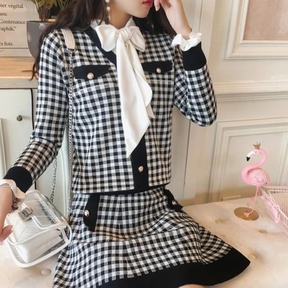 gingham check set-up(No.300490)
