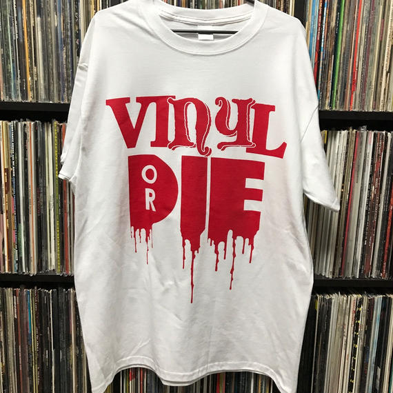 VINYL OR DIE T-SHIRT (White-Red)