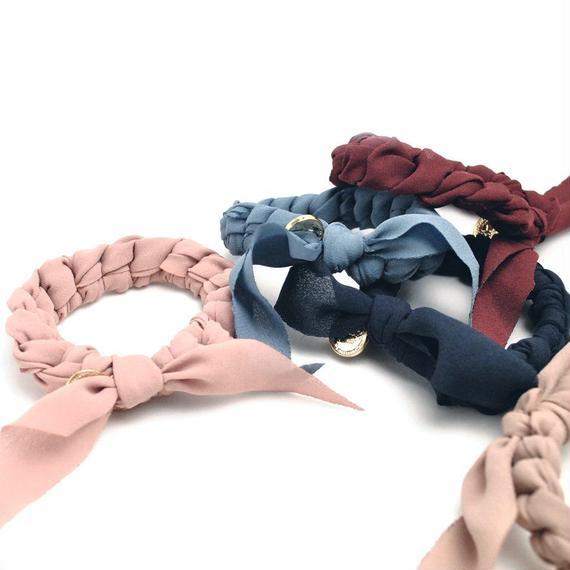 シュシュ&ブレスレット(7color/プレーンサテン)