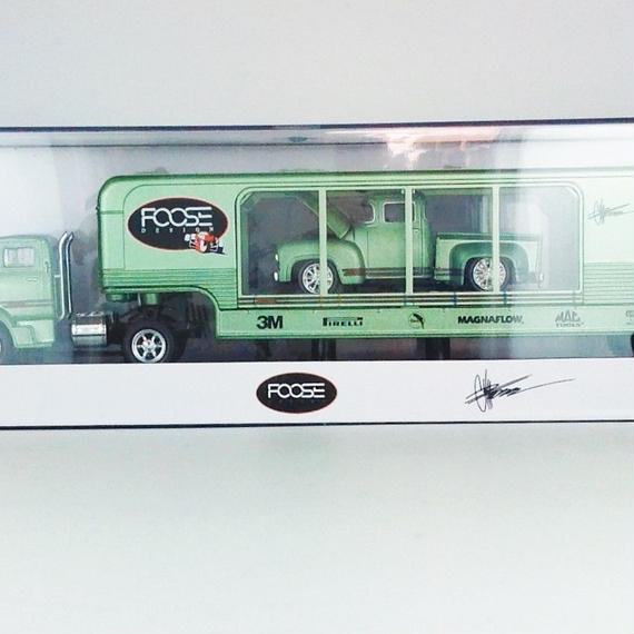 【M2 MACHINES FOOSE】 1956 Ford C-500 COE& 1956 Ford F-100 Truck Foose overlord R18