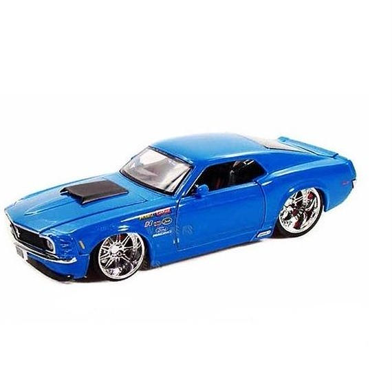 【JADA BIGTIME MUSCLE】1970 FORD MUSTANG BOSS 429 (ブルーカラー 1:24スケール )