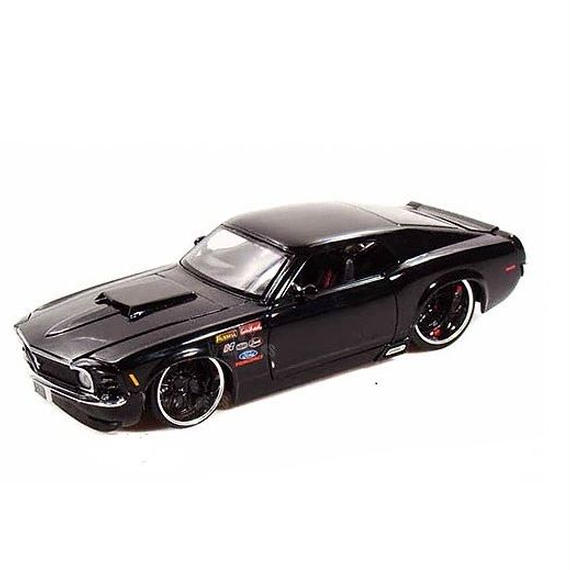 【JADA BIGTIME MUSCLE】1970 FORD MUSTANG BOSS 429 (ブラックカラー 1:24スケール )