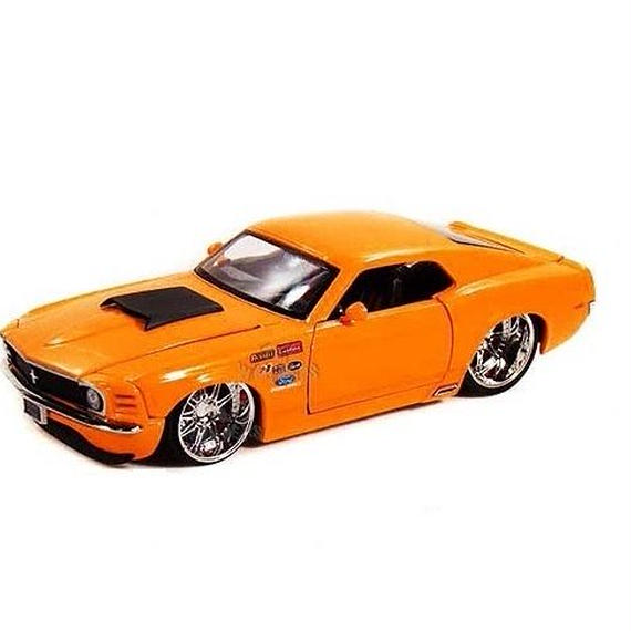【JADA BIGTIME MUSCLE】1970 FORD MUSTANG BOSS 429 (オレンジカラー 1:24スケール )