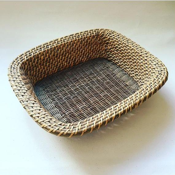 Indonesian Vintge Rattan Basket